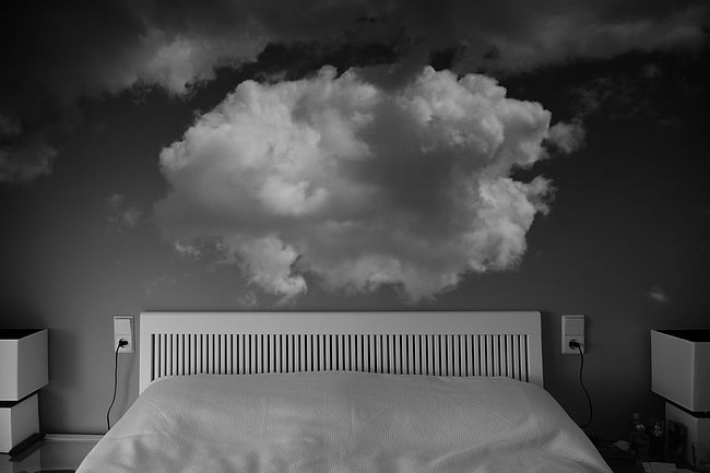 "Vlad Antonov. Home Clouds. ""Photographed the door,  now run after the clouds ""."
